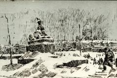 Открытка периода Великой Отечественной войны в собрании Государственного музея городской скульптуры. Илл.18