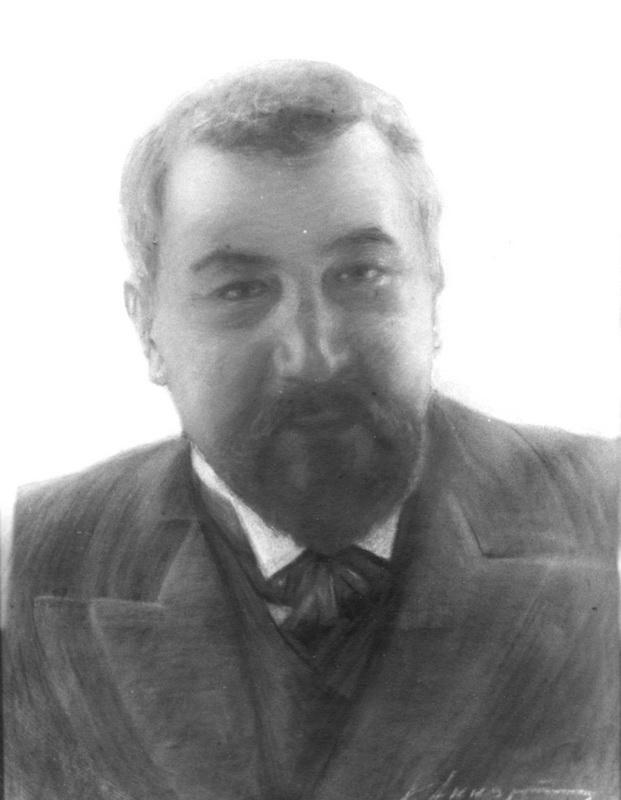 К.Аккуратов портрет А.И.Куприна. Пастель, 1900-е (ГЛМ, фотоархив ГМГС)